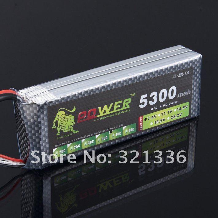 Lion li-po 11.1 V 5300 MAH 40C haute capacité batterie au lithium polymère pour rc heli voitures camion modèle R/C jouet