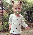 6 шт./лот девочки свитер детей малышей одежда с длинным рукавом сердца белый Вязать мальчиков Осень 0803 сильвия 536550357697
