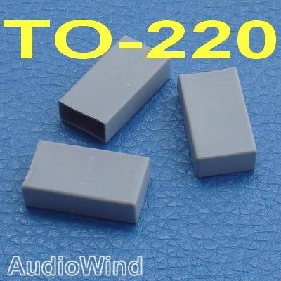 ( 100 Pcs/lot ) TO-220 Transistor Silicone Rubber Cap, Insulator.
