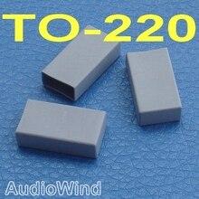 (100 قطعة/الوحدة) الترانزستور سيليكون المطاط غطاء ، عازل.