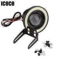 ICOCO 3 5 Inch 30W COB Angel Eyes Fog Lights Projector Car LED COB Fog Lamp
