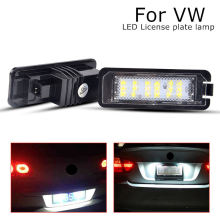 2Pcs LED License Number Plate Light lamps car Exterior Accessories fit for volkswagen Lupo polo Scirocco CC VI EOS GOLF 4 5 6 7