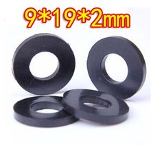 Oil resistant rubber sealing washer faucet washer-9x19x2mm(Inner d:9mm,d:19mm Thickness:2mm)