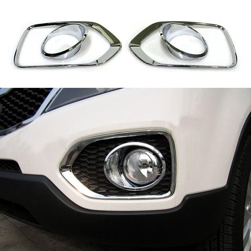 ABS Chrome Feux antibrouillard avant Cover Trim 2 pcs pour accessoire de voiture ABS Chrome Feux antibrouillard avant Cover Trim 2 pcs pour accessoire de voiture NSXT