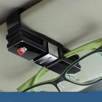Sline S Line Design Car Glasses Holder Case Muiti Purpose Cards Clip Sun Visor Position For