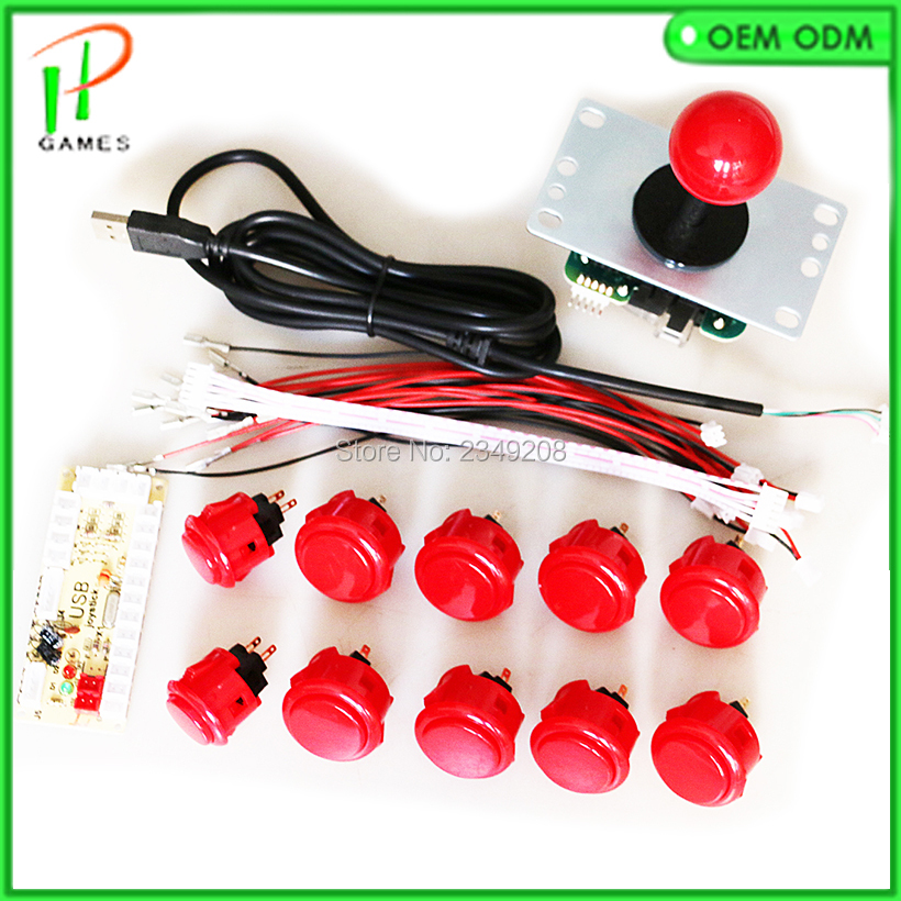 1 Player Arcade DIY Kit Zero Delay USB Encoder with Original Sanwa Joystick 5 Pin Joystick