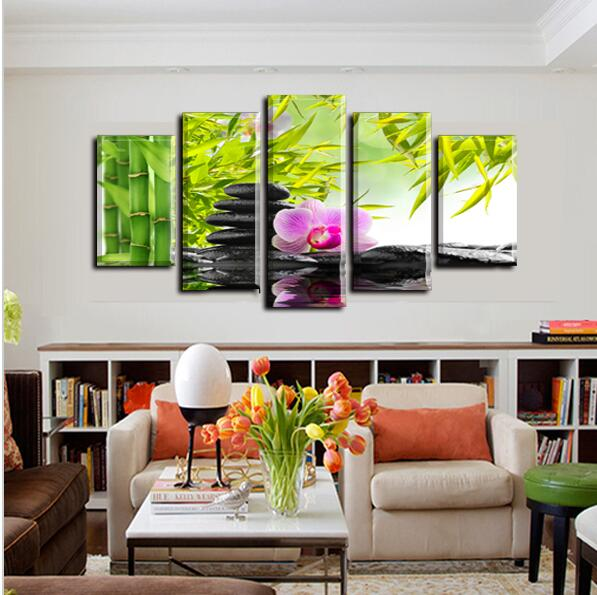 panel de pared pintura green bamboo orchid pintura al leo sobre lienzo pinturas abstractas baratos fotos decoracin de crista