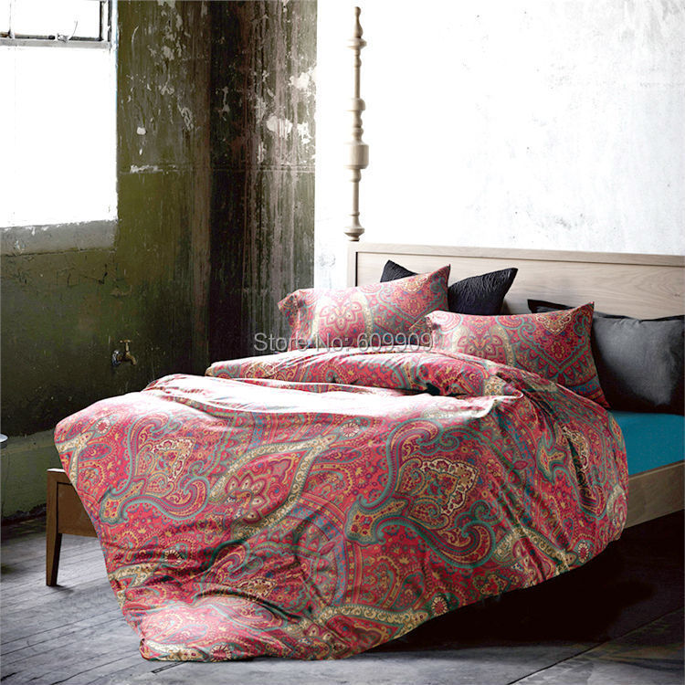 duvet soft style red bed comforter and item cotton egyptian boho sheets bohemian cover moroccan bedding fabric