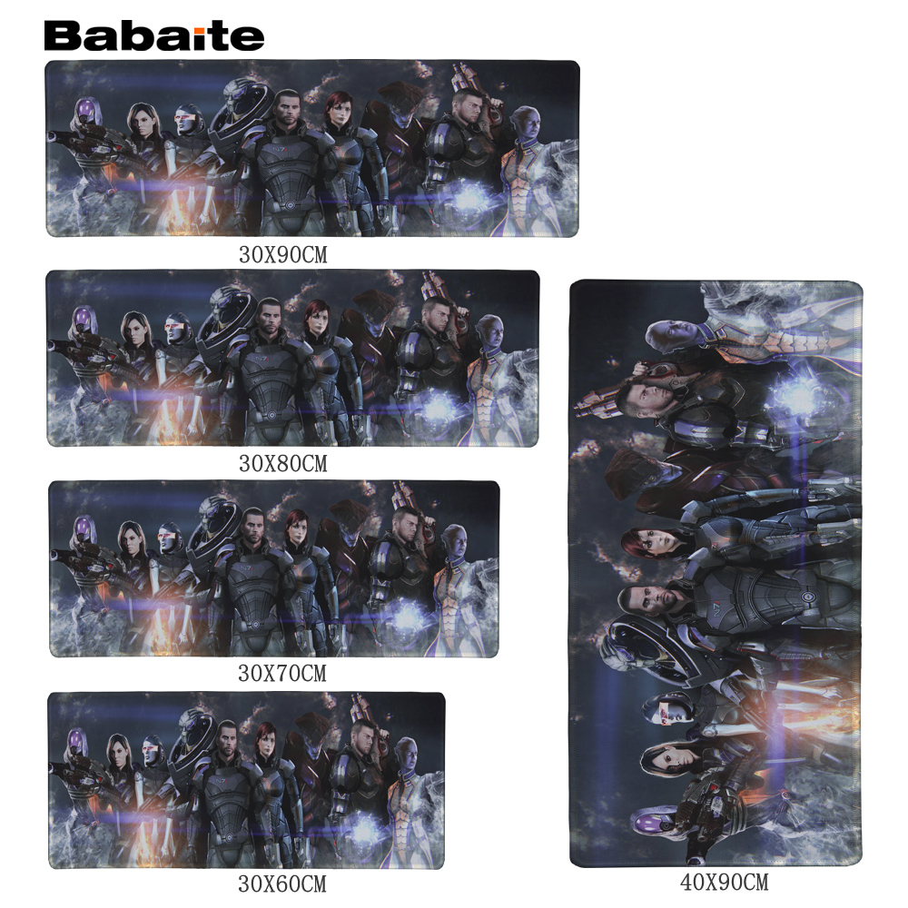 Babaite High quality Mass Effect Dragon Gaming Mouse Pad 900 * 300 * 2mm Locking Edge Mo ...