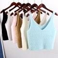 Edición limitada de la Primavera Otoño Mujeres Sueltan Blusas Casual Corto Camis Tanques Camisolas Tops Cusual Outwear V-cuello Femenino