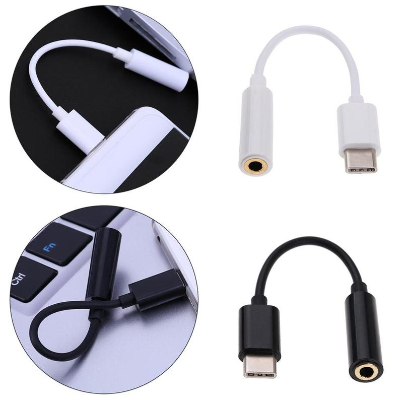 Cable Adapter Usb-c Type C To 3.5mm Jack Headphone Cable Audio Headphone Audio Connector For Xiaomi Huawei Smartphone