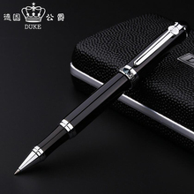 Free Shipping New Arrival Genuie Duke D2 Metal Ballpoint Pen Business Men Luxury Gift Writing Pen Buy 2 Pens Send Gift duke d2 luxury smooth black and silver clip rollerball pen with original gift case 0 7mm ballpoint pens office gift supplies