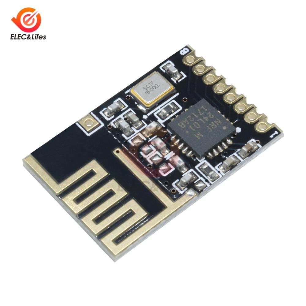 NRF24L01 SMD 2.4GHz Wireless Transceiver Module 1.27MM Mini NRF Wireless Module Power Enhanced Version Voltage Regulator Board