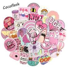 53 шт./лот, мультяшная розовая наклейка INS style Vsco Girl s для ноутбука, мотоцикла, скейтборда, багажа, холодильника, ноутбука, игрушечный ноутбук, наклейка