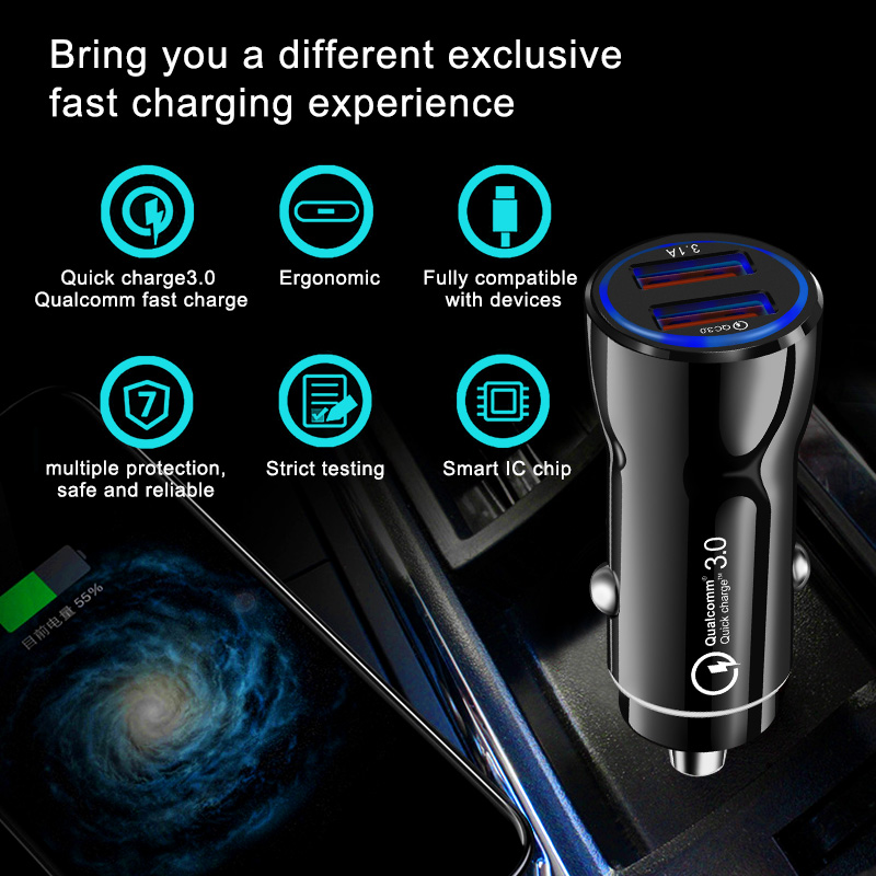 Olaf Car USB Charger Quick Charge 3.0 2.0 Mobile Phone Charger 2 Port USB Fast Car Charger for iPhone Samsung Tablet Car Charger-in Car Chargers from Cellphones & Telecommunications on Aliexpress.com | Alibaba Group 14