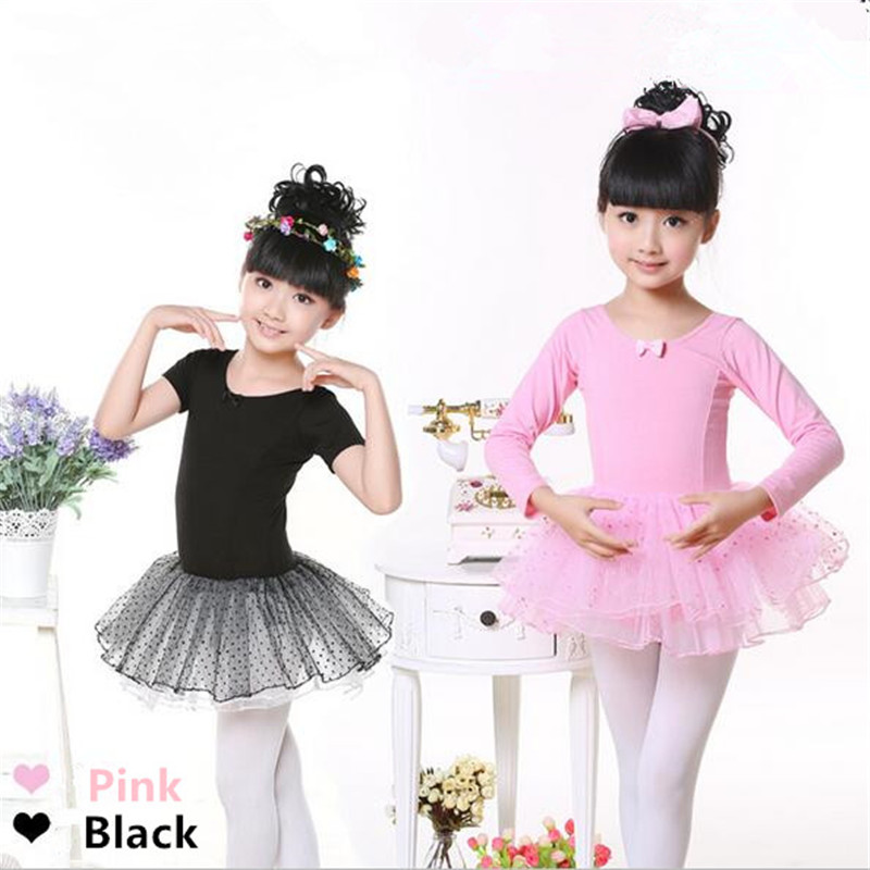 Girl's Ballet Dress Gymnastics Dancewear For Kids Jupe Femme Tutu Leotard Skirt Skate Dresses  Costume Lace Cute Dot Cotton Hot