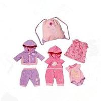 4Pcs Set High Quality Clothes Bag Wear Fit 43cm Baby Born Zapf Children Best Birthday Gift