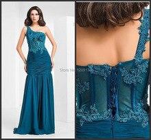 Abendkleid 2014 neue heiße abendkleider lange kleid reizvolle ein-schulter mutter der braut kleider vestido de festa