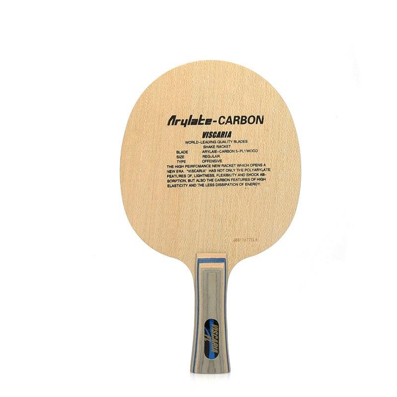 Lemuria Vis professionnel 5 plis bois avec 2 plis arylate fibre de carbone lame de tennis de table longue ou courte poignée raquettes de ping-pong