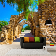 3D Stereoscopic Arches Brick Wall Painting