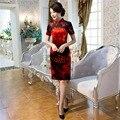 Shanghai Story chinese traditional dress Red chinese dress oriental styled dresses China cheongsam qipao Velvet Short Dress