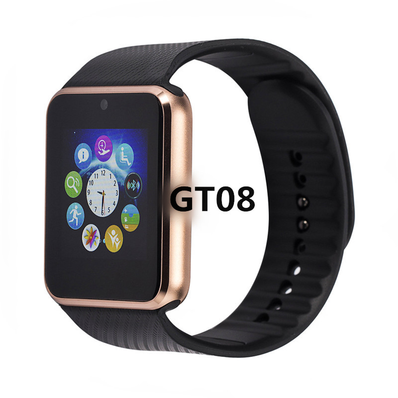 Bluetooth GT08 Smart Watch Phone Best Smartwatch 2018/2017 Sim Card TF Card Camera Smart Clock for Apple Watch Iphone Android