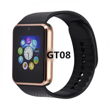 Bluetooth Smart смарт часы мужские GT08 часы телефон Smartwatch Gt08 сим карты TF карты Камера Smart Часы для Apple Watch Iphone 7 6 6s Android смартфон часы умные