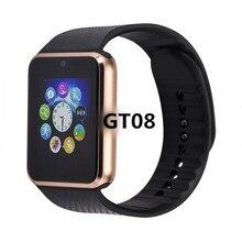 บลูทูธ GT08 สมาร์ทนาฬิกาโทรศัพท์ Smartwatch ที่ดีที่สุด 2018/2017 ซิมการ์ด TF Card สมาร์ทนาฬิกาสำหรับ Apple Watch iphone Android