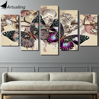 Framed Printed Flower Butterfly Painting Children S Room Decor Print Poster Picture Canvas Free Shipping Ny