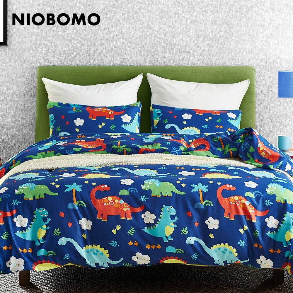 Niobomo Bedclothes Dinosaur World Animal Pattern Duvet