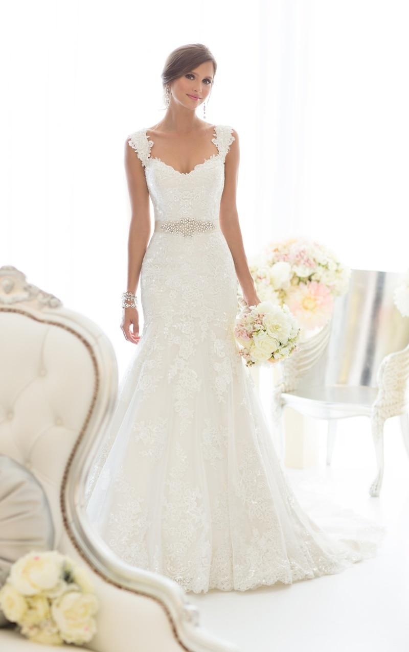 Vestido De Noiva 2015 Sexy Mermaid Vintage Wedding Dress Real Photo Lace Robe Mariage Casamento