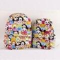 5% 1 pcs tsum Mickey Minnie saco de lona Dupla mochila Crianças da menina do menino Casuais