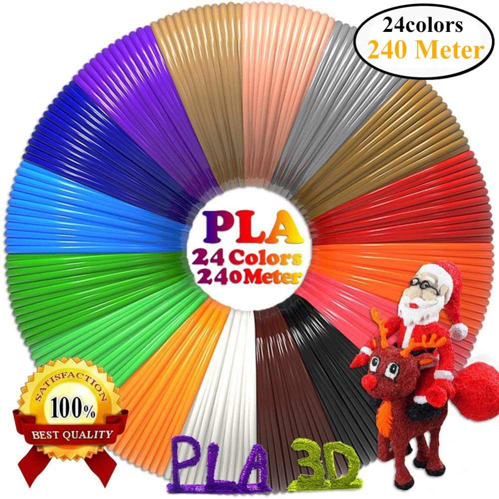 Material de impresión 3D Dikale 1,75mm PLA modelado especial estereoscópico sin veneno 3D bolígrafo filamento 24 colores Impresora 3D Imprimante