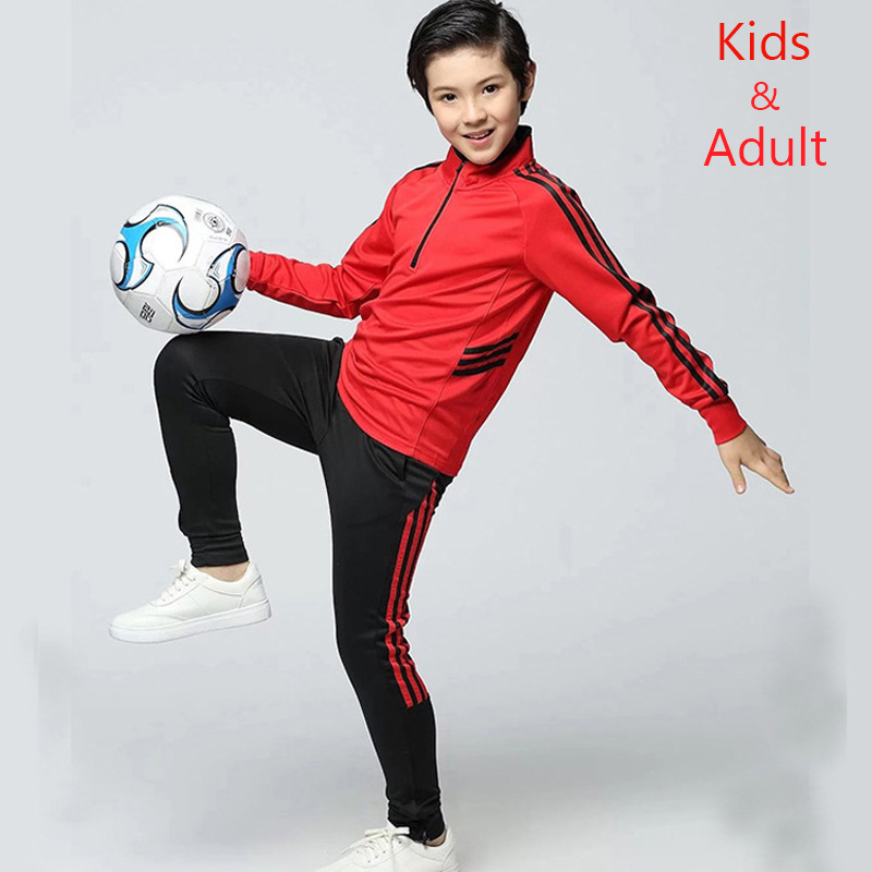 Adult and Children Long Sleeve Soccer Uniforms Football Jerseys Zipper  Training Suit Tracksuits Set Soccer Jerseys Shirt + Pants – Football Shop  King 4e4f23be6