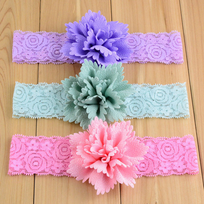 newborn baby girls lace headband flower hair band kids hair accessories baby headwear diademas bebe