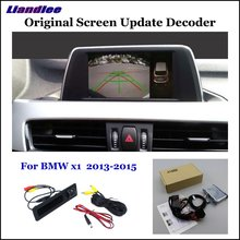 Liandlee Car Original Screen Update System For BMW X1 E84/F48 2013-2017 Rear Reverse Parking Camera Digital Decoder Display Plus liandlee for cadillac cts 2013 2017 original display update system car rear reverse parking camera digital decoder rear camera
