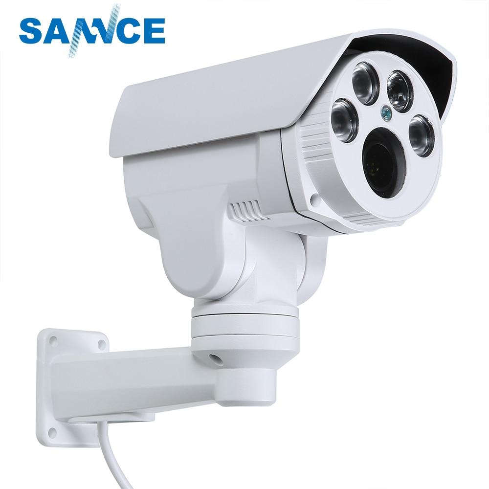 SANNCE AHD Full HD 1080P Camera 4in1 Autofocus Varifocal 5-50mm 10X Digital Zoom Pan/Tilt Bullet PTZ Camera IP66 In/outdoor цена и фото