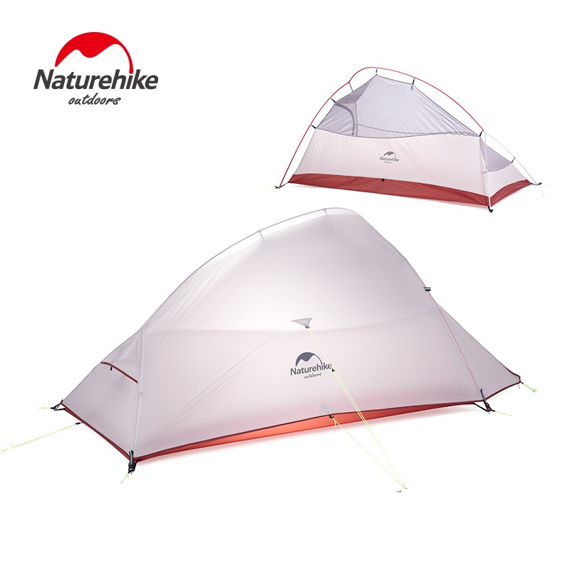 Naturehike Outdoor 2018 New Free Standing 2 Person Ultralight Camping Tent 20D Nylon Cloud UP 2 Updated high quality outdoor 2 person camping tent double layer aluminum rod ultralight tent with snow skirt oneroad windsnow 2 plus
