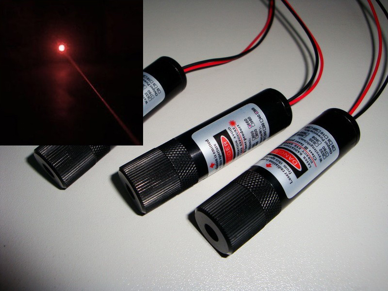20mw 650nm adjustable focus red DOT laser diode module (industrial class) diameter 16x length60mm 250mw adjustable focus red dot laser diode module with power supply box