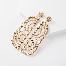 Earings Fashion Jewelry 2019 Dangle Earrings Temperament Metal Geometric Retro Atmosphere Holiday Beach Party Drop