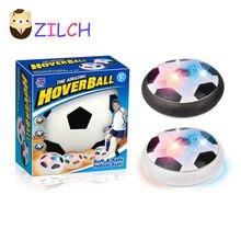 Дети Air power Футбол Спорт детские игрушки Обучение Футбол крытый Открытый аэромяч с пеной бамперы светодио дный светодиодные