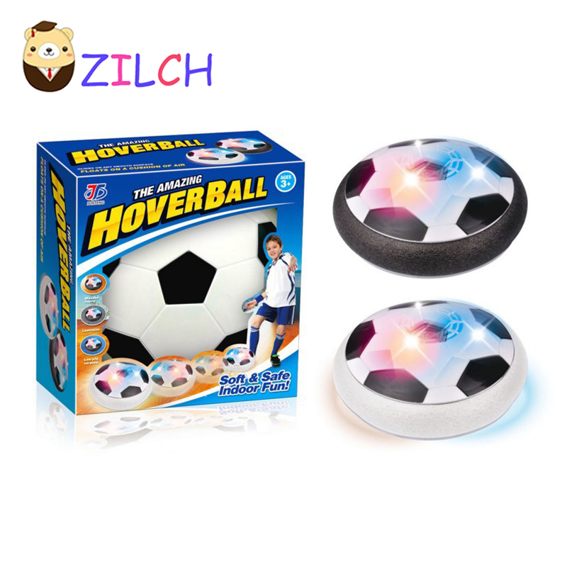Kids Air Power Soccer Football Sport Children Toys Training Football Indoor Outdoor Hover Ball with Foam Bumpers and LED Light