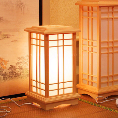 Japanese Solid Wood Floor Lamps Creative Square Bedroom Living Study Lamp Retro Home Lighting Commonly Used Lights ZA MZ96 In From