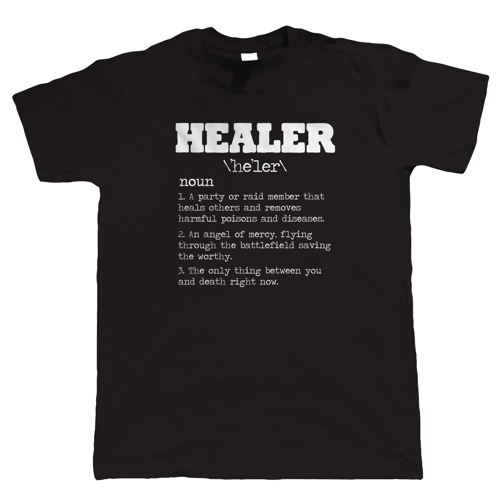 Healer RPG Gamer T Shirt - Video Game MMORPG PC Gamer WoW Horde Alliance Rogue image