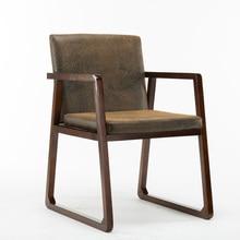 Простой в скандинавском стиле, обеденный стул из натурального дерева, для кафе, кабинета, переговорные стулья, домашний обеденный стол, ретро компьютерный диван-стул