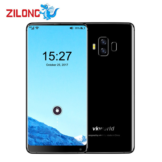 """Vkworld S8 5.99"""" Bezel-Less 18:9 Screen 5500mAh Smartphone Face Recognition 4GB 64GB MTK6750T Octa Core 16MP Android7.0 4G Phone"""