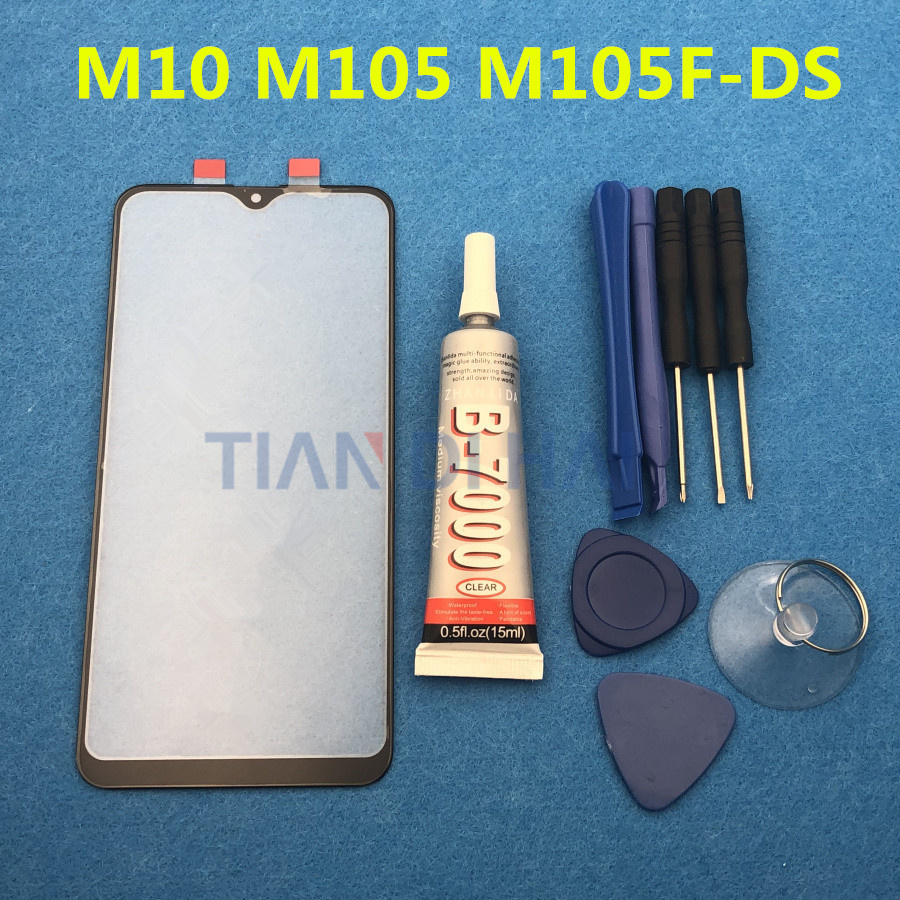 M10 Original LCD Touch Panel Screen For Samsung Galaxy M10 M105F M105F-DS Front Glass Outer Lens + B-7000 Glue Tools