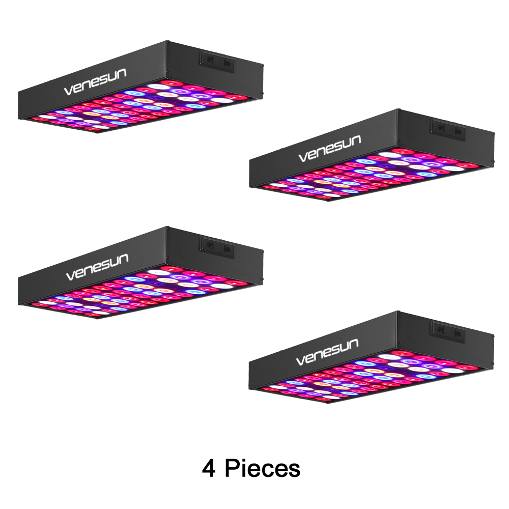 LED Grow Light Panel 30W Venesun Full Spectrum With IR & UV Plant Growing Lamps For Indoor Plants Hydroponic Greenhouse (4PCs)