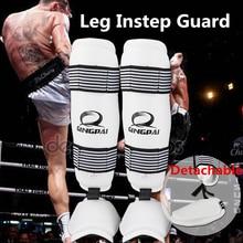 Sale PU leather adult kids Muay thai kick boxing MMA grappling shin guards pads Taekwondo Karate foot Protector shank leg protectors