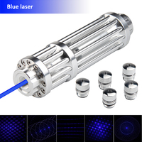 USB High Power Blue Laser Pointer 450nm Lazer Pen Light Adjustable Focus Burning Match Lit Cigarette